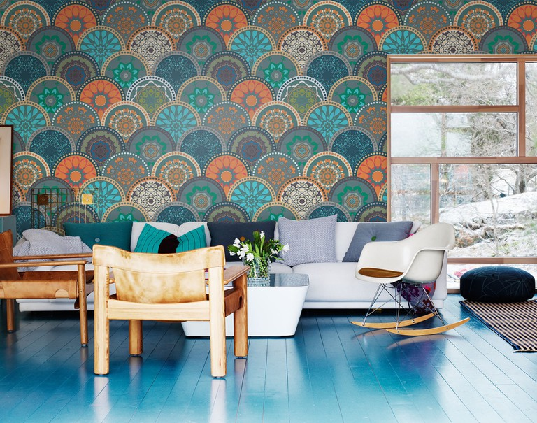 Ethnic pattern, wall mural