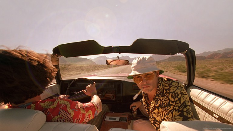 Johnny Depp takes a ride in 'Fear and Loathing in Las Vegas'