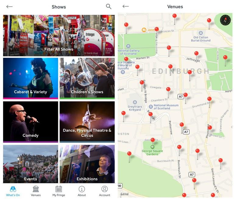 Edinburgh Fringe App Screenshot