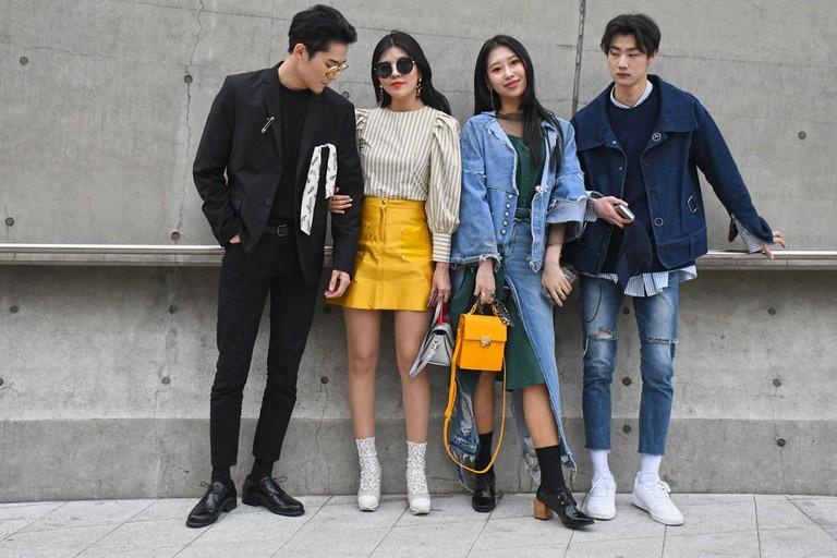 Shoppers in Korea