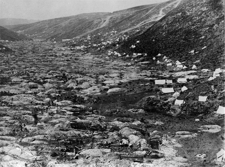 Gabriel's Gully During the Otago Gold Rush in 1862