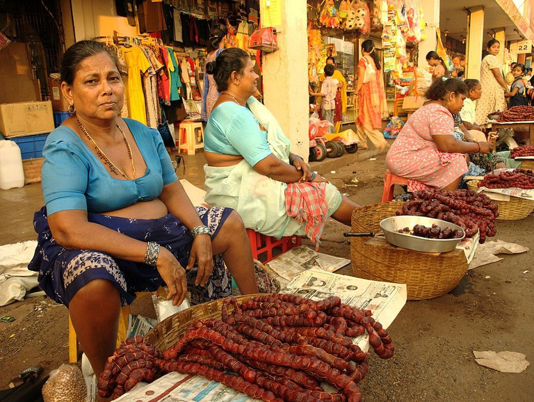 Goan sausages for sale at Mapusa Market | © Fredericknoronha/Flickr