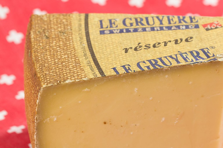 Gruyère cheese. A favourite for fondue