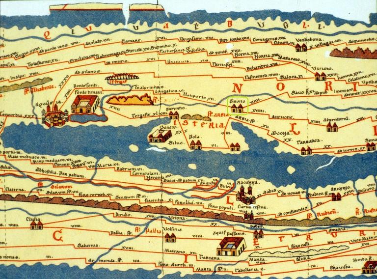 Map of Emona│