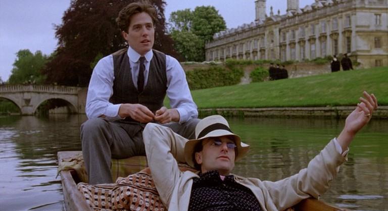 Hugh Grant (left), with Mark Tandy as Viscount Risley
