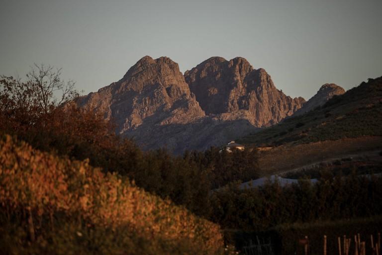 Sunset over Stellenbosch