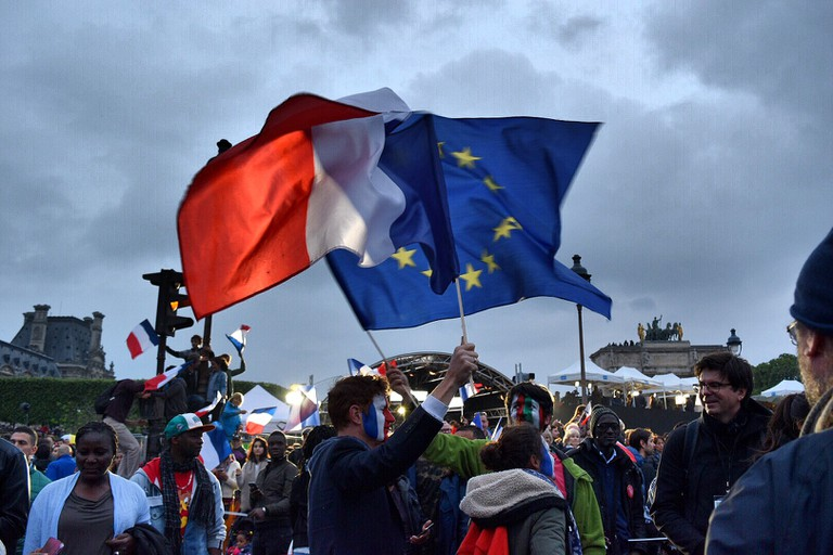 The French and EU flag