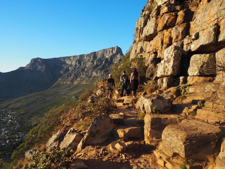 The walk up Lion's Head peak