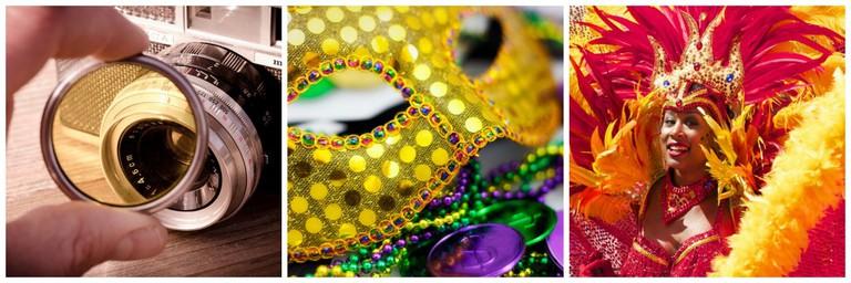 Photography | © Pixabay // Mardi Gras Gear | © Randy Heinitz/Flickr // Carnival! | © Pixabay