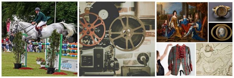 Royal Highland Show | © Edinburgh Blog/Flickr // Film Projectors | © Pexels // Bonnie Prince Charlie And The Jacobites Promo | Courtesy Of Sutton PR