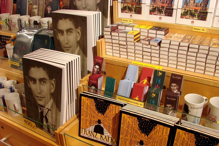 Franz Kafka books and memorabilia in Prague