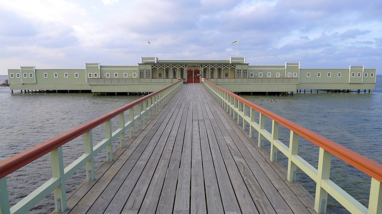 Kallbadhuset is one of the dominating features in Ribersborg / Photo courtesy of Wikipedia Commons