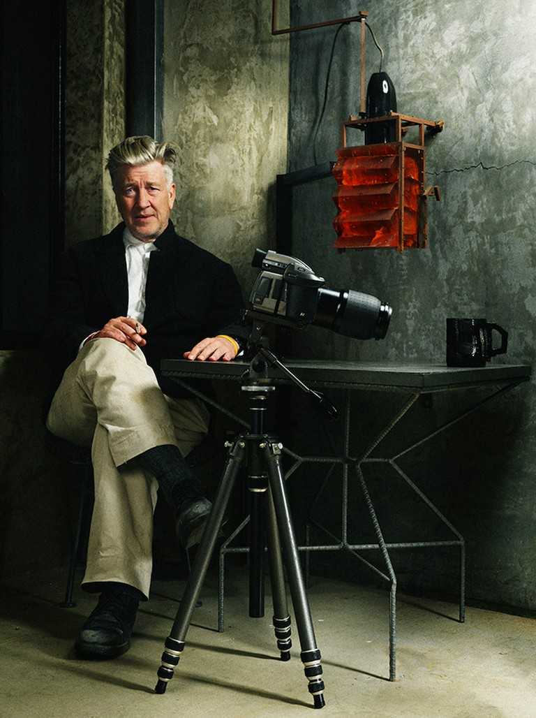 David Lynch in David Lynch: The Art Life directed by Jon Nguyen. Image courtesy of Janus Films.