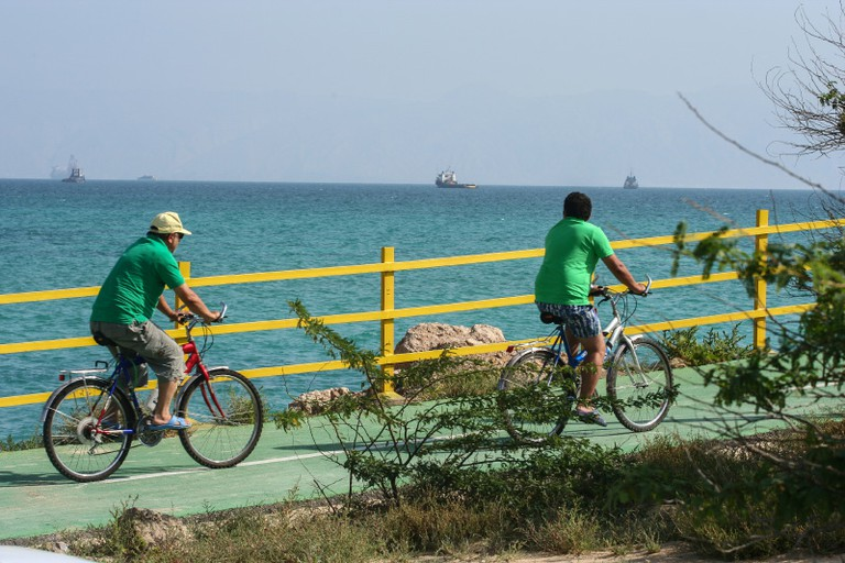 Bike paths on Kish Island