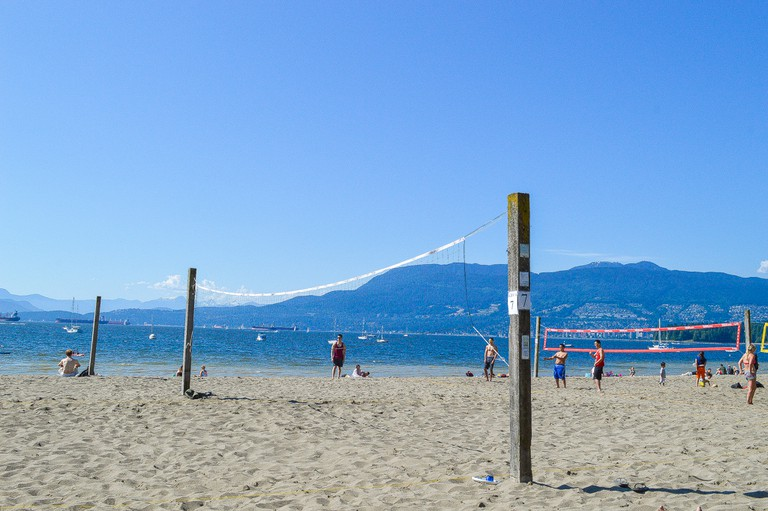 Volleyball on Kits Beach