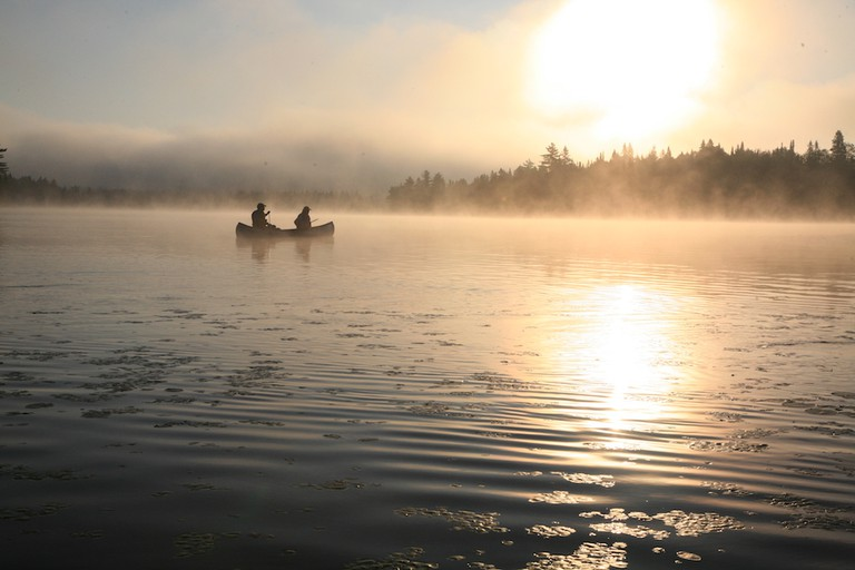 Canoeing at Lac du Fou in La Mauricie National Park