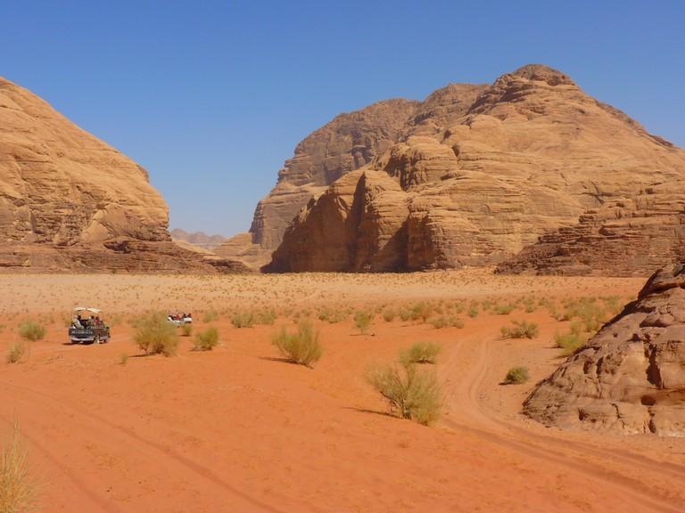 Desert Landscapes in Wadi Rum