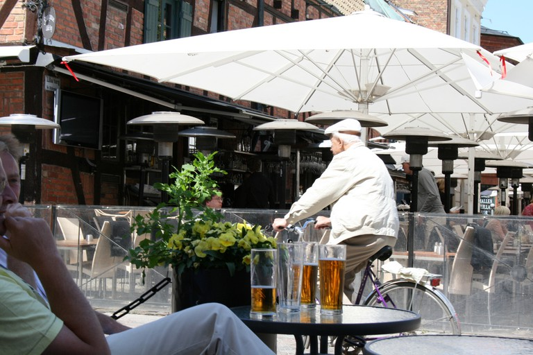 Begin your exploration of Gamla Staden by people watching in Lilla torg