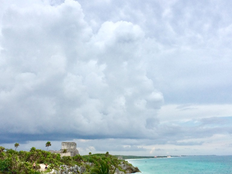 Mayan Temple of the Wind God, Tulum, Mexico