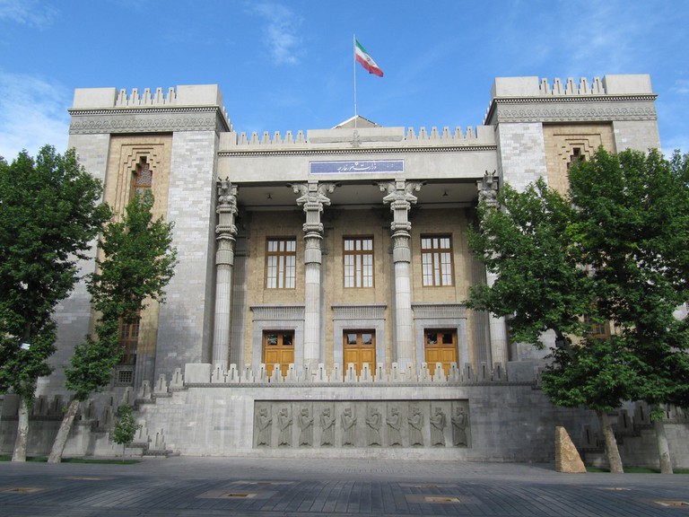 The Ministry of Foreign Affairs building is reminiscent of Persepolis