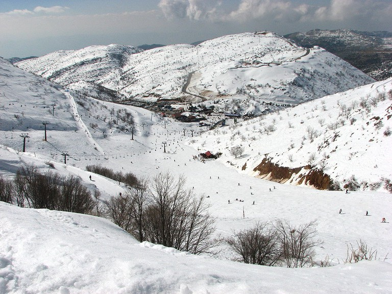 The ski site at Mount Hermon on the Golan Heights