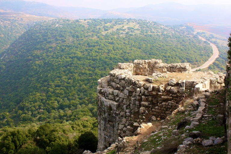 Old fort on Nimrod in the Golan Heights