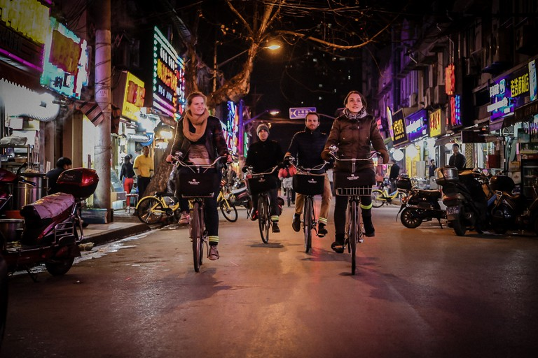Explore a different side to Shanghai on Culture Shock Bike Tours' night tour