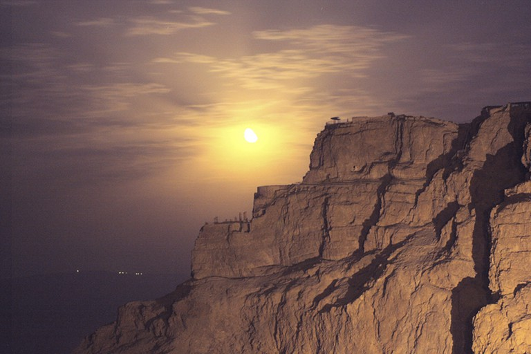 Masada is a quite the sight when the sun sets over the Judea desert
