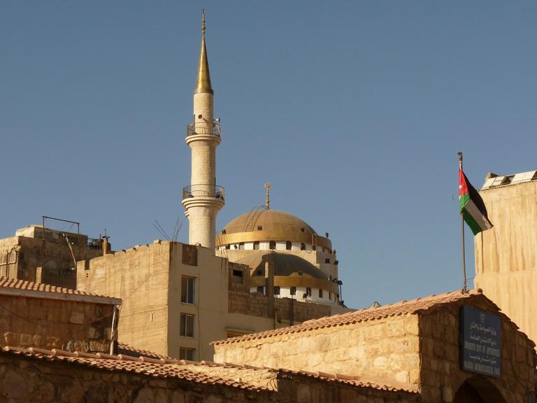 The city of Madaba in Jordan