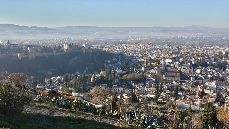 The view from the San Miguel hermitage, Granada's highest point; Encarni Novillo