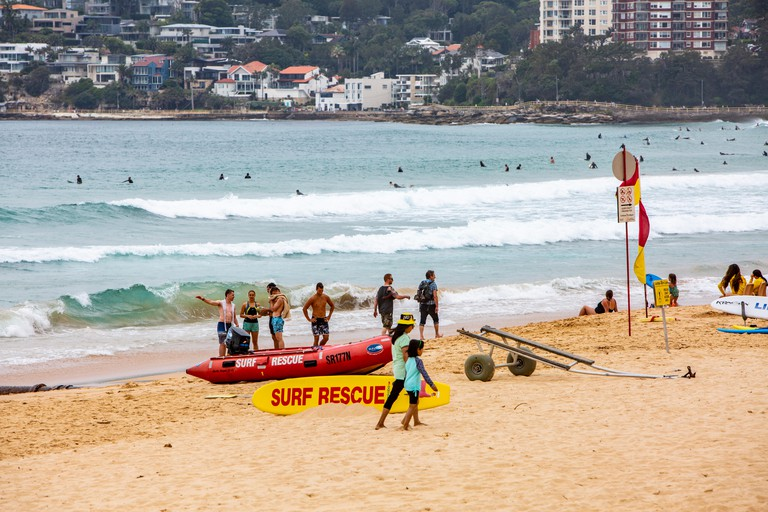 Surf rescue lifeguard station on Manly beach, Sydney