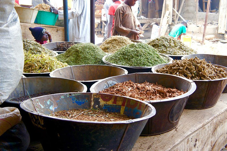 Sandalwood and incense at Kurmi Market, Kano/Fatima Bukar/Wikimedia https://commons.wikimedia.org/wiki/File:Sandalwood_and_incense_materials_at_Kurmi_Market_Kano.jpg