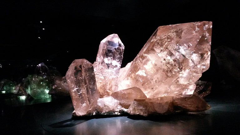 The giant Planggenstock crystals are on show at Bern's National History Museum