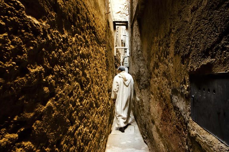 Narrow Medina Passage - Fez - Morocco.