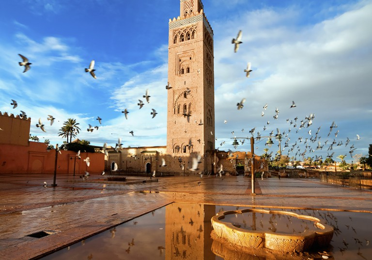 Koutoubia mosque, Marrakech, Morocco.