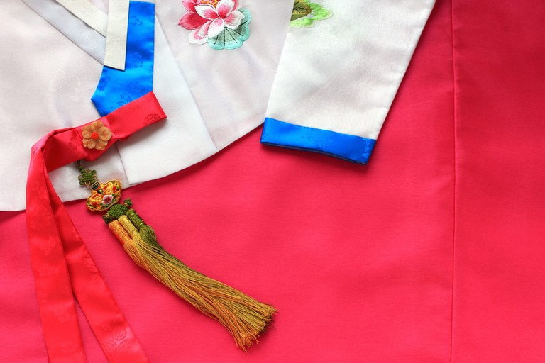 The colorful Hanbok, Korean traditional silk dress for women