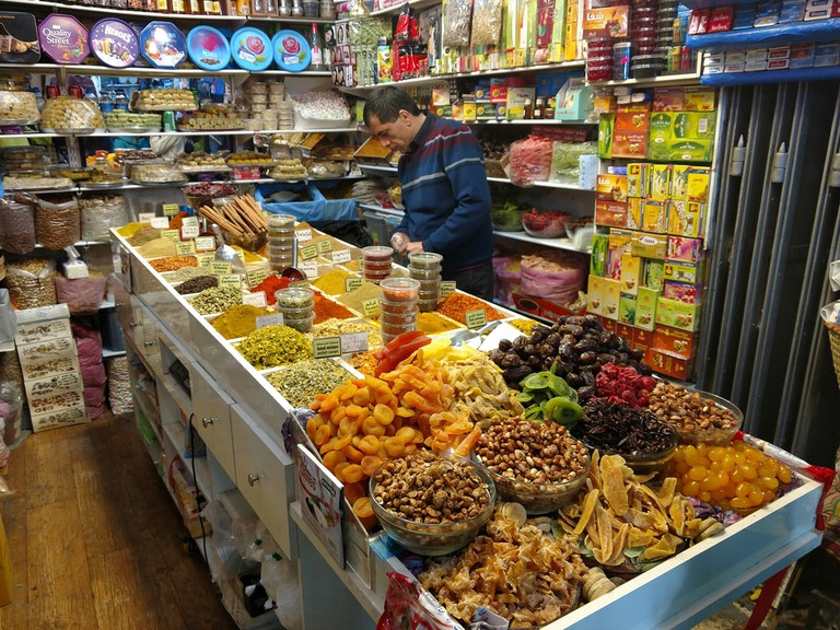 Arabic sweets being sold in Jerusalem's Old City