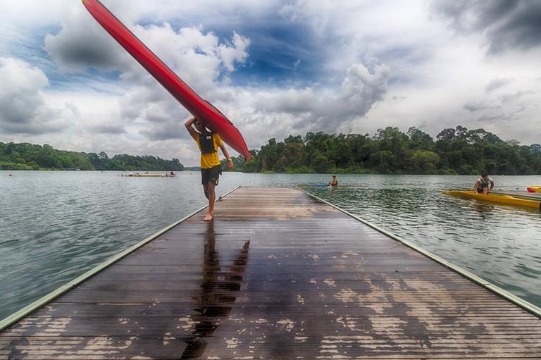 Kayaking at Macritchie Reservoir