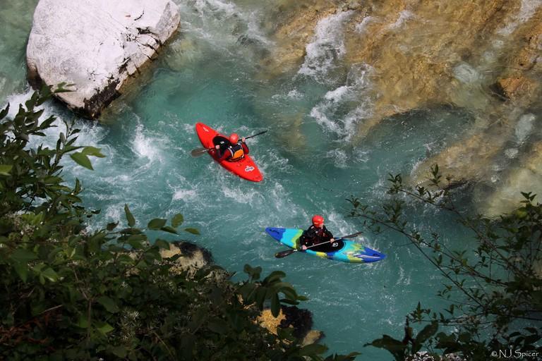 Kayaking on the Soča River│