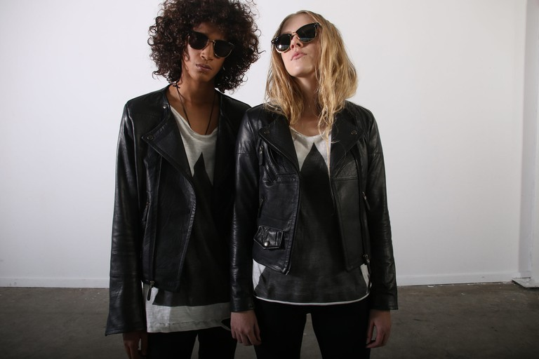 A leather jacket from Vintage Zionist will never go out of style