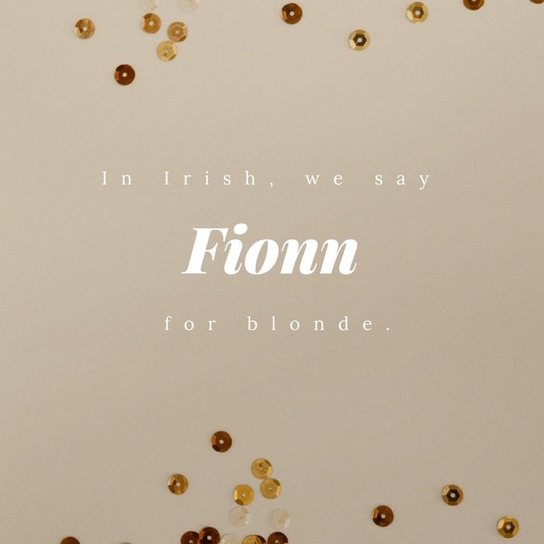Fionn - Blonde