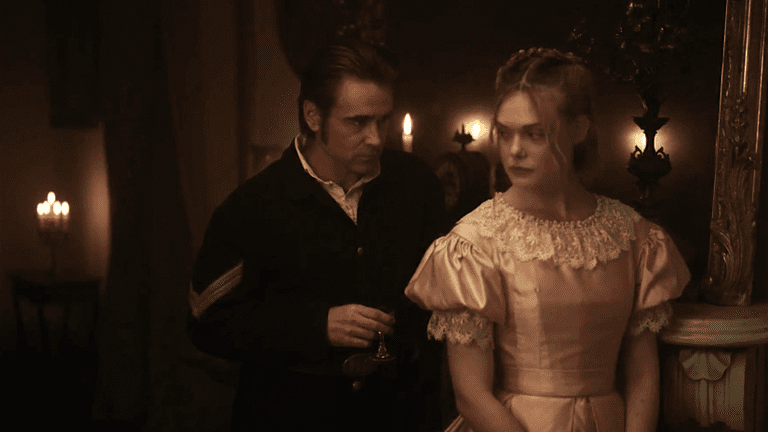 Colin Farrell and Elle Fanning