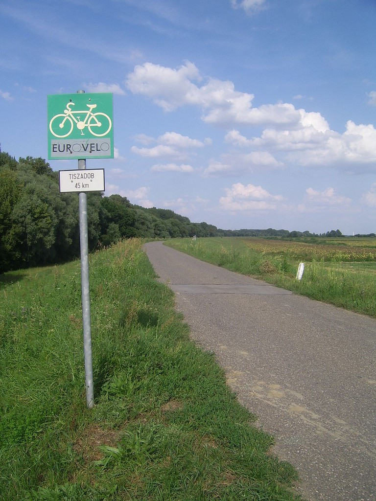 Sign for the EuroVelo Trail