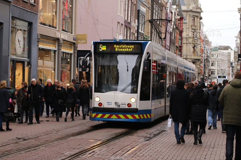 Buying a 24 hour OV-chip card allows visitors to quickly move around Amsterdam by public transport