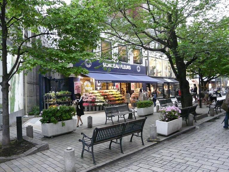 Main shopping street in Jiyugaoka