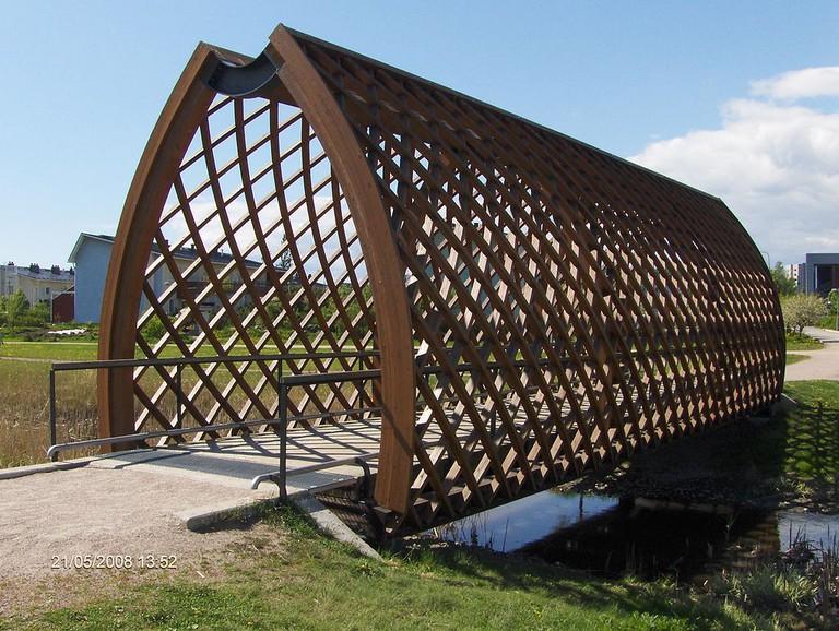 The Viikki covered bridge/ Wikicommons