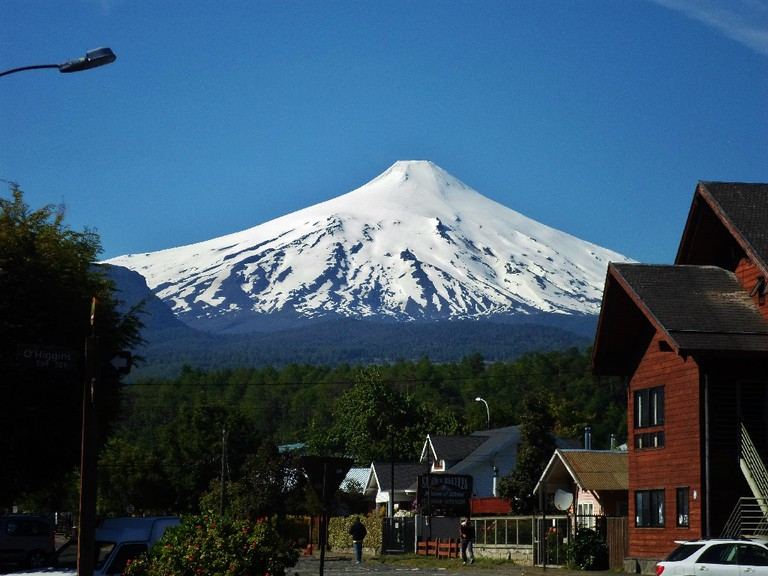 Pucon and its volcano