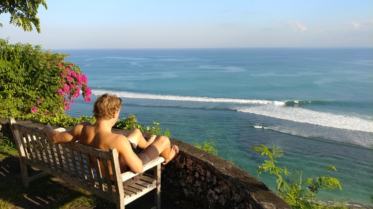 Scouting waves in Bali. | © Michael LoRé/Culture Trip