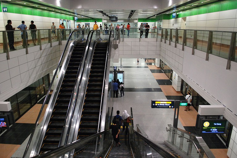 An MRT station in Singapore