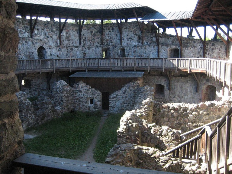Interior of Raesborg Castle